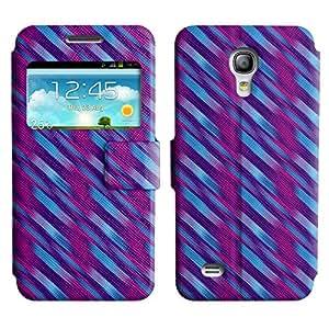 LEOCASE línea diagonal Funda Carcasa Cuero Tapa Case Para Samsung Galaxy S4 Mini I9190 No.1005091