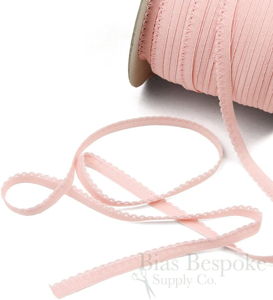 10 yards bright bubblegum pink sewing craft Picot Lingerie Stretch loop sewing Elastic 38 wide