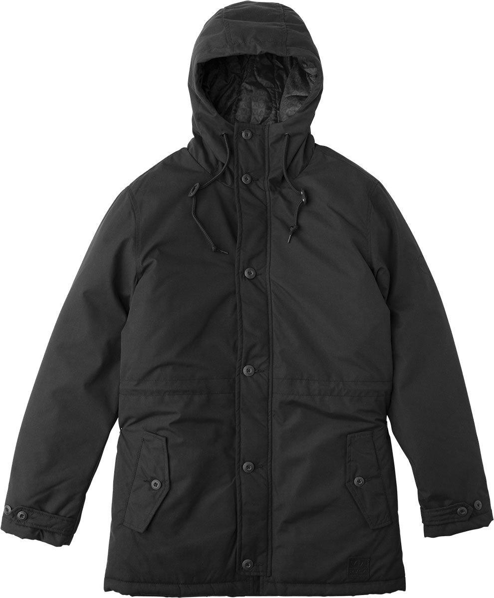 RVCA Men's No Boundaries Parka Jacket, Black, M by RVCA