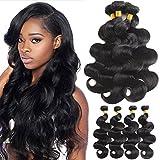 Cheap Mermaid Hair 8A Brazilian Body Wave Virgin Hair Weave 4 Bundles 100% Unprocessed Human Hair Natural Black Color (14 16 18 20)