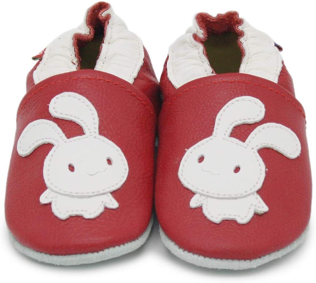 Carozoo Chaussures dint/érieur en cuir /à semelles souples pour b/éb/é jusqu/à 8 ans 16 designs
