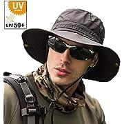 211846f15c65a1 サファリハット メンズ 【UPF50+ UVカット率99% 日焼け防止】ハット 帽子 2WAY