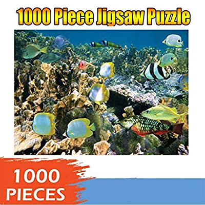 Multicolored Underwater Sea-life Puzzle For Adults 1000 Piece Jigsaw Puzzles For Adults Large Jigsaw Puzzles Floor Puzzle Kids Diy Toys For Home Decor 3d Puzzles Brain Teaser Puzzles Board Game Family: Toys & Games