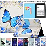 Kindle Paperwhite Case, Artyond PU Leather Case [Card Slot] With [Auto Sleep/Wake] Smart MagneticCase For Amazon Kindle Paperwhite 123 (Fits All 2012, 2013, 2015 and 2016 Versions) (Big Butterfly)