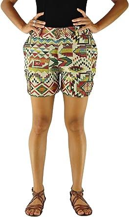 Virblatt Pantalones Cortes Para Mujer Estilo Boho Chic Patrones Etnicos Pantalones Hippie Mujer Y Pantalones Hippies Como Ropa Boho Morgenklang Cfl Amazon Es Ropa Y Accesorios