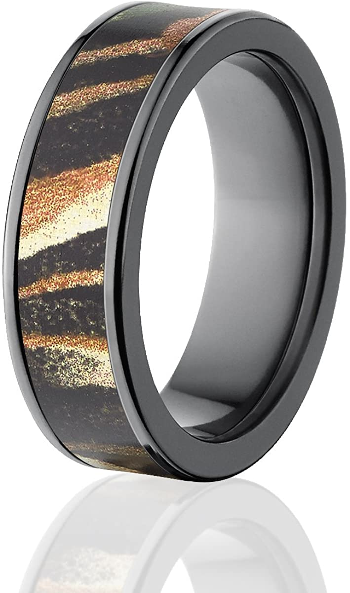 Mossy Oak Camouflage Wedding Bands Camo Rings Shadow Grass Camo