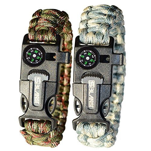 LAUNCH OFFER - BLANST SURVIVAL BRACELET KIT - Must Have for Outdoor, Camping and Hiking Gear for Adventourists, Life Saving Fire Starter with Paracord Rope
