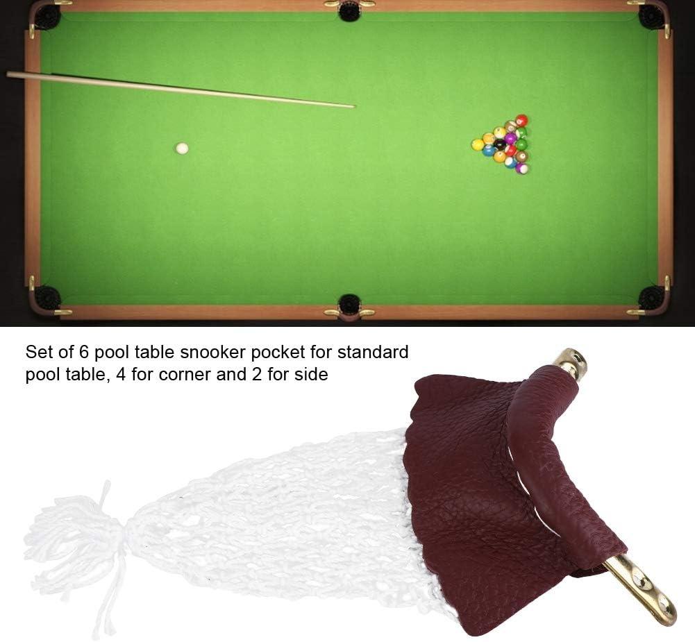 Cocoarm Snooker Accesorios de Red de Bolsillo, 6 Piezas de ...
