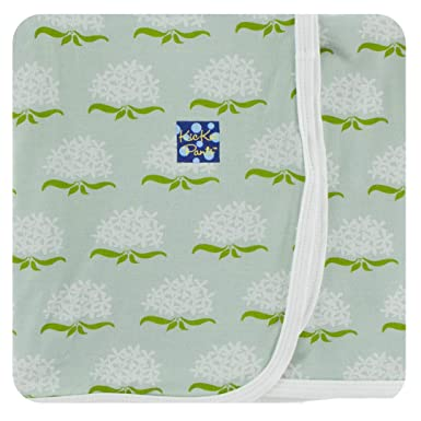 3d10533fe Amazon.com: Kickee Pants Print Swaddling Blanket (Aloe Ixora - One ...