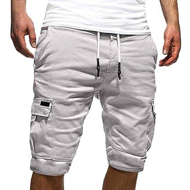 low cost ea678 39758 Tomwell Uomo Pantaloni Corti Bermuda Cargo Pantaloncini Uomo Cotone Lavoro  Pantaloni Tasconi con Elastico Pantofole Estive Casual Pantaloncino ...