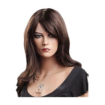 Amazon.com   7buy Dark Brown Medium Long Women s Curly Wigs Full ... 24778cfeb2