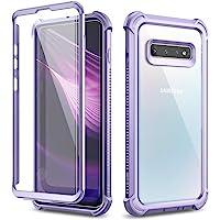 Dexnor Funda para Samsung Galaxy S10, Carcasa Protección Transparente con Parachoques De Silicona De 360 Grados [A…