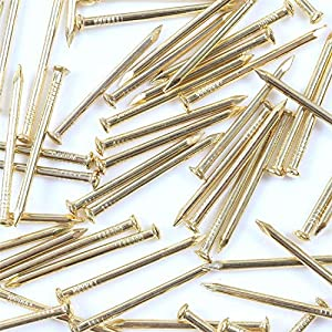 100x Brass Wall Pins 25mm Panel Wire Hanging ...