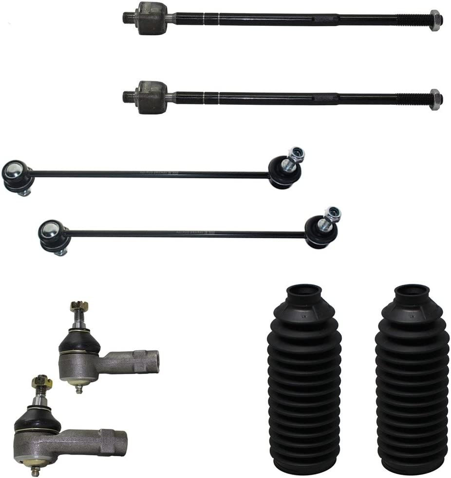 Front Inner and Outer Tie Rod End Links Detroit Axle All 4 New 4-Piece Front Suspension Kit
