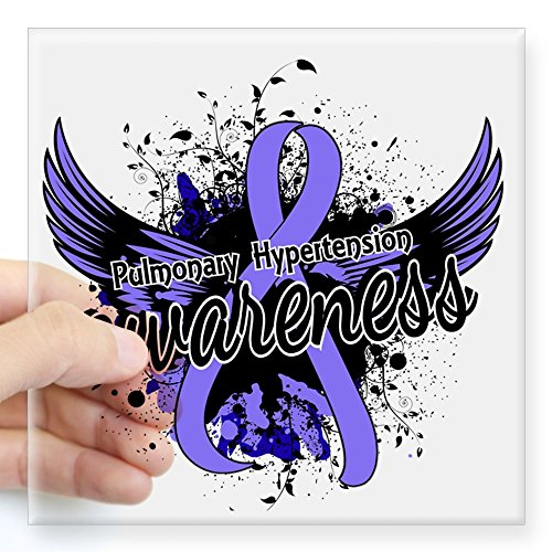 CafePress - Pulmonary Hypertension Awar Square Sticker 3