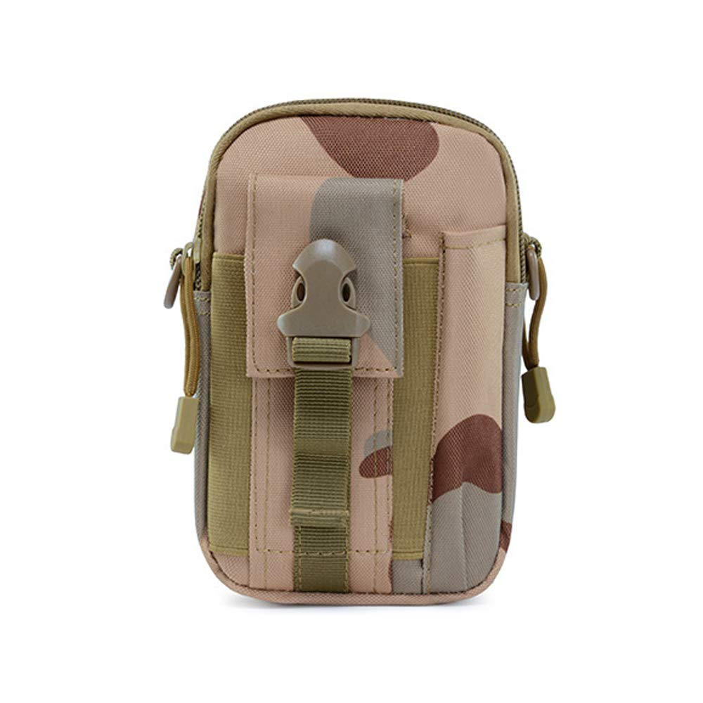 THE HUA Outdoor Mens Tactical Shoulder Bag Army Fan Pockets Outdoor Sports Running Cell Phone Pocket Bag Mens Camouflage Hiking Pockets