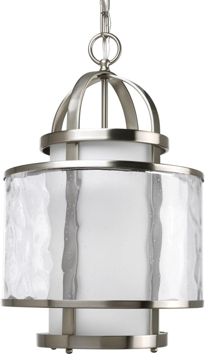 Progress Lighting P3701-09 1-100W MED Foyer Lantern, 11-3 4-Inch Diameter x 18-1 4-Inch Height, Brushed Nickel