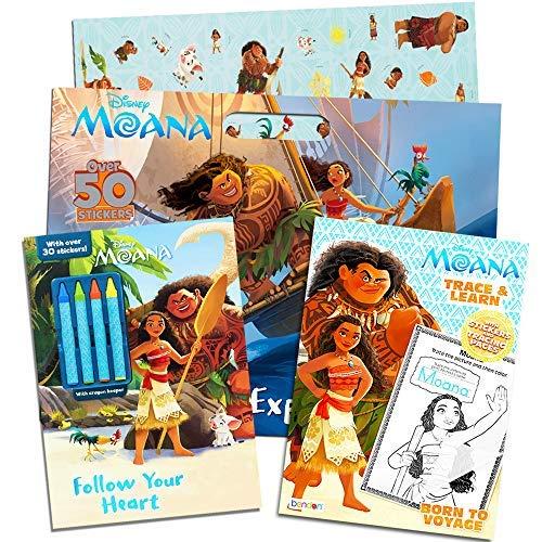 ディズニー モアナ ぬりえとアクティビティブック スーパーセット キッズ 幼児 デラックスモアナ 3冊 ステッカー付き クレヨンと絵画用品(パーツセット) Moana Coloring Set (3 Books) Moana Party Supplies