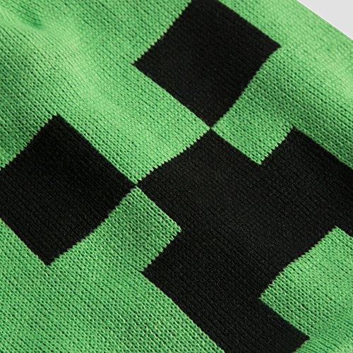 df573c6b8e141 Jual JINX Minecraft Creeper Face Knit Pom Beanie (Green Black