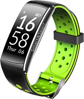 WAZY Fitness Bracelet Smart Bracelet Moniteur de Fréquence Cardiaque Pédomètre de la Pression Artérielle OLED Sports Étanche, Vert 9.8 * 0.7 * 0.4 In