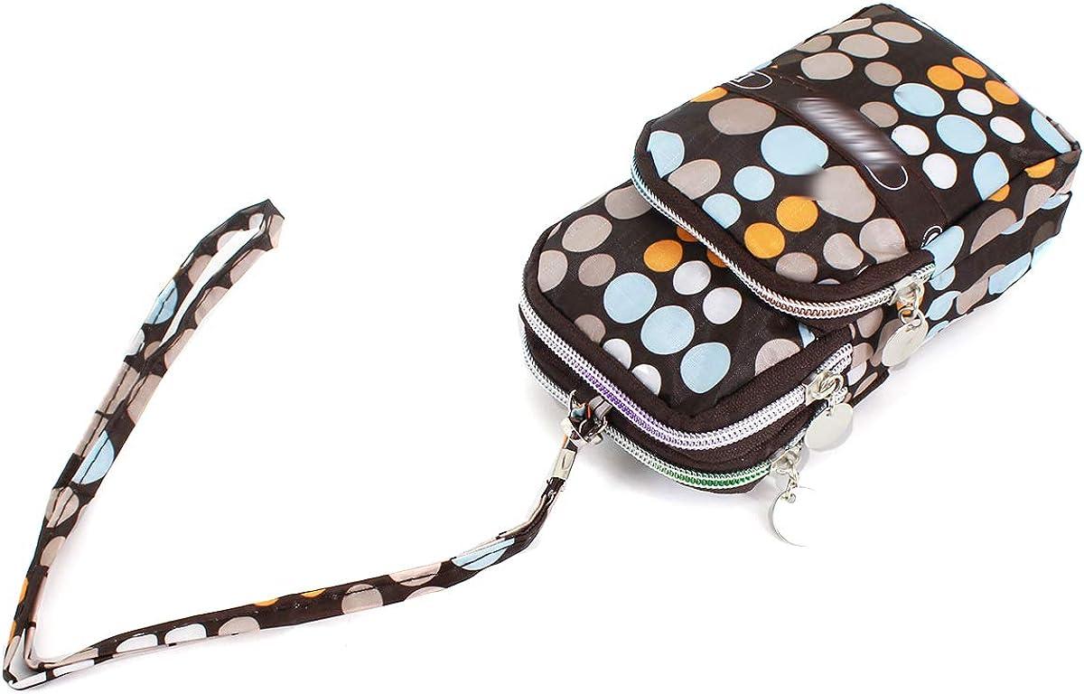 Cellphone Clutch Purse With Wrist Strap Train On Green Pattern Zipper Small Purse Wallets Girls Canvas Coin Purse