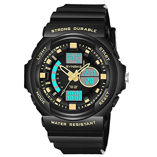 ... Wrist Watches 5ATM Water Resistant Outdoor Watch on Sale on Clearance Military Quartz Watchs with Rubber Silicone Strap Case Relojes De Hombre: Watches