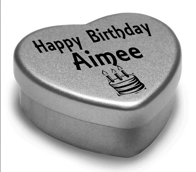 Happy Birthday Imran Mini Heart Tin Gift Present For Imran WIth Chocolates