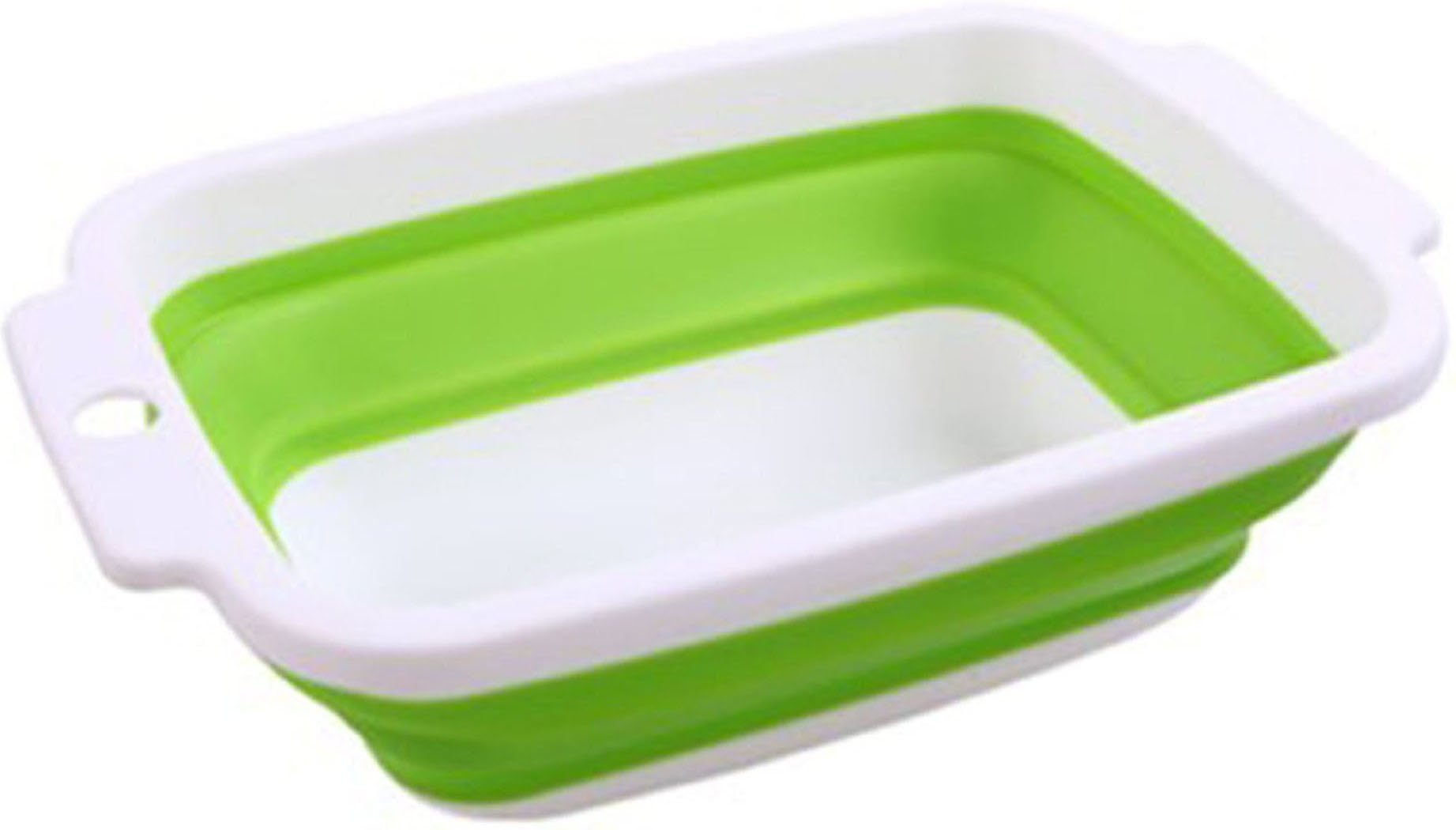Neeshow Collapsible Dish Tub Collapsible Bowl (Green)