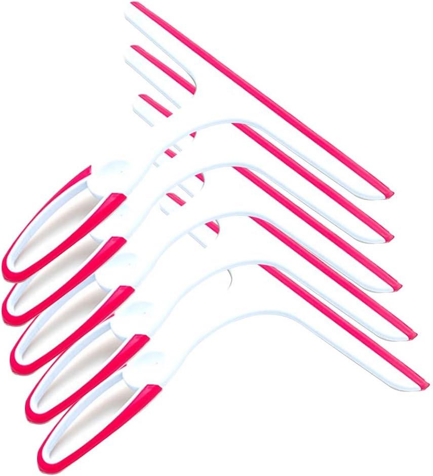 zhouzhouji Raclette De Douche Vitre Raclette leau De m/énage en Nettoyage Raclette pour Salle De Bain Fen/être 3*Pink