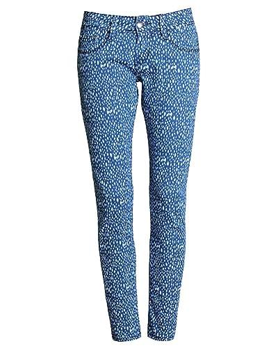 SaiDeng Mujeres Color Puro Talle Alto Pantalones de Mezclilla Skinny Elasticidad Lápiz Azul Oscuro 5...