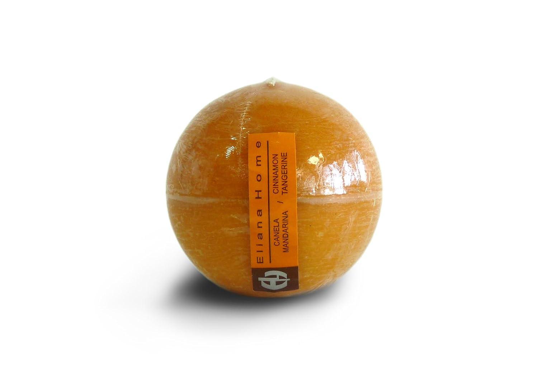 Eliana Home 673024-Candela a Sfera Cannella Mandarino, 7,5 cm Creaciones Nadal S.L.