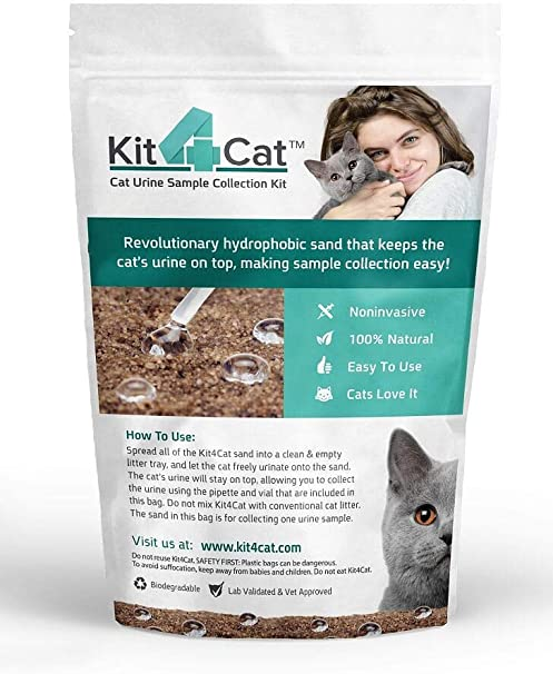 Kit4cat 2lb Hydrophobic Litter Sand Cat Urine Sample Collection Kit 1 Bag Pet Litter Pet Supplies
