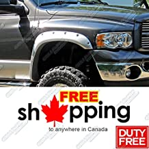 Pocket-Riveted Style ABS Black Fender Flares | 4pcs | For 2002-2008 Dodge Ram 1500; 2003-2009 Ram 2500/3500 (Fleetside Models ONLY)