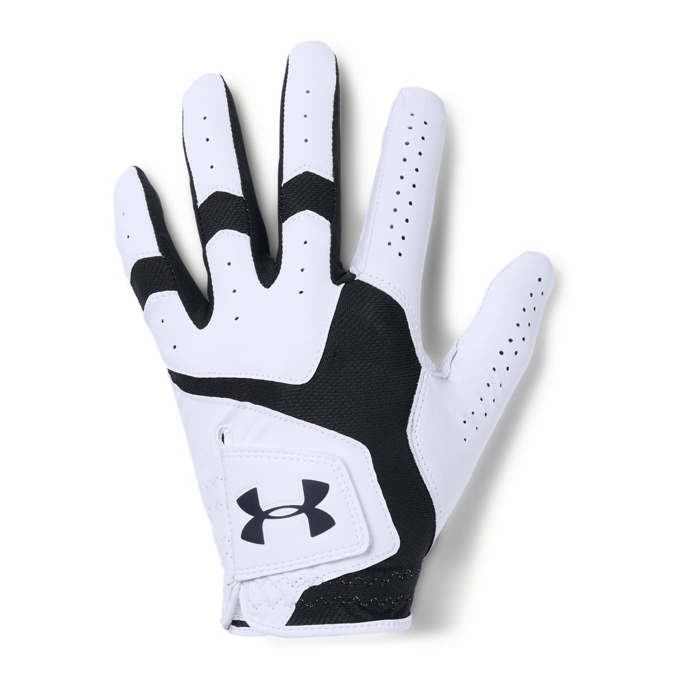 Under Armour Men's CoolSwitch Golf Glove, White /Black, Left Hand Small