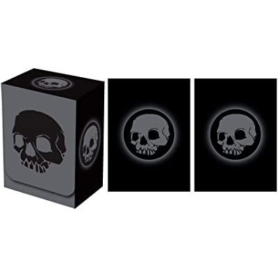 Legion Supplies Absolute Iconic Black Skull Deck Box with 100 Sleeves: Toys & Games