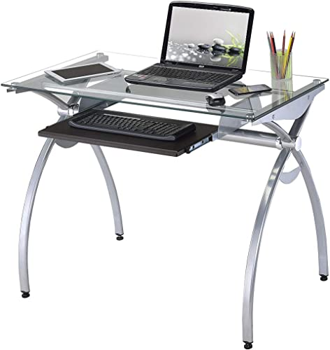 Techni Mobili Contempo Glass Top Computer Desk
