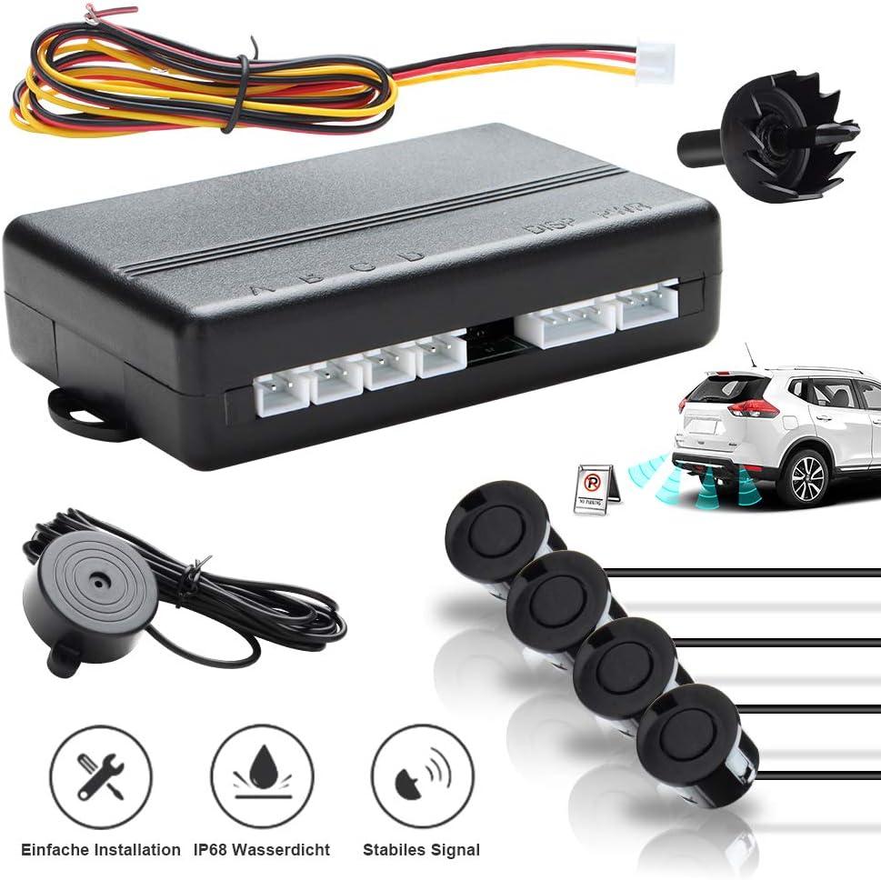 Hengda 4 Radar Aparcamiento Sensor Sensor Aparcamiento Kit Buzz Alerta sensores Negro Aparcamiento Trasera estacionamiento Ayuda