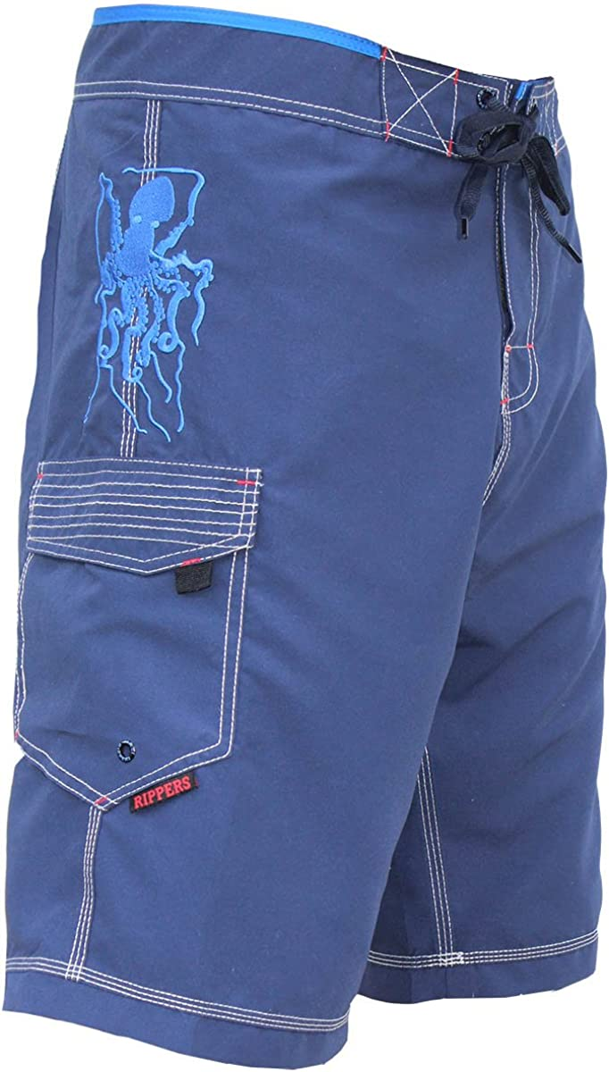 Maui Rippers Men/'s Board Shorts Triple Stitch Quick Dry Men/'s Swim Trunks Octo Tako