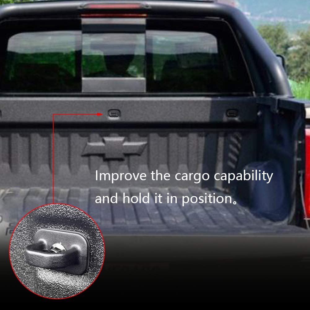 BESTAOO 4pcs Tie Down Anchors Truck Bed Side Wall Anchor for 07-18 Chevy Silverdo//GMC Sierra 15-18 Chevy Colorado//GMC Canyon
