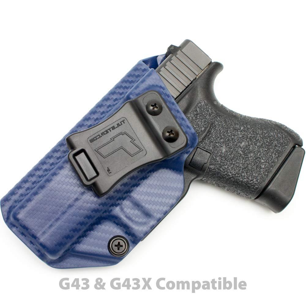 Tulster Glock 43/43X Holster IWB Profile Holster (Police Blue Carbon Fiber - Left Hand)