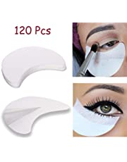120PCS Eye Shadow Shields, Kalolary Eyeshadow Stencil Stickers for Prevent Makeup Residue, Eye Pad for Eyelash Extensions/Perming/Tinting and Lip Makeup