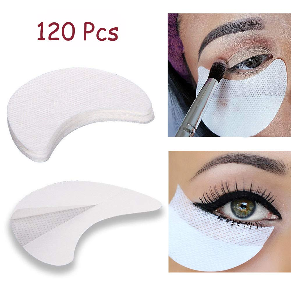 120 Pcs Eye Shadow Shields, Kalolary Eyeshadow Pads Stencils Lint Free Under Eye Pads Eyeshadow Patches For Eyelash Extensions/Lip Makeup