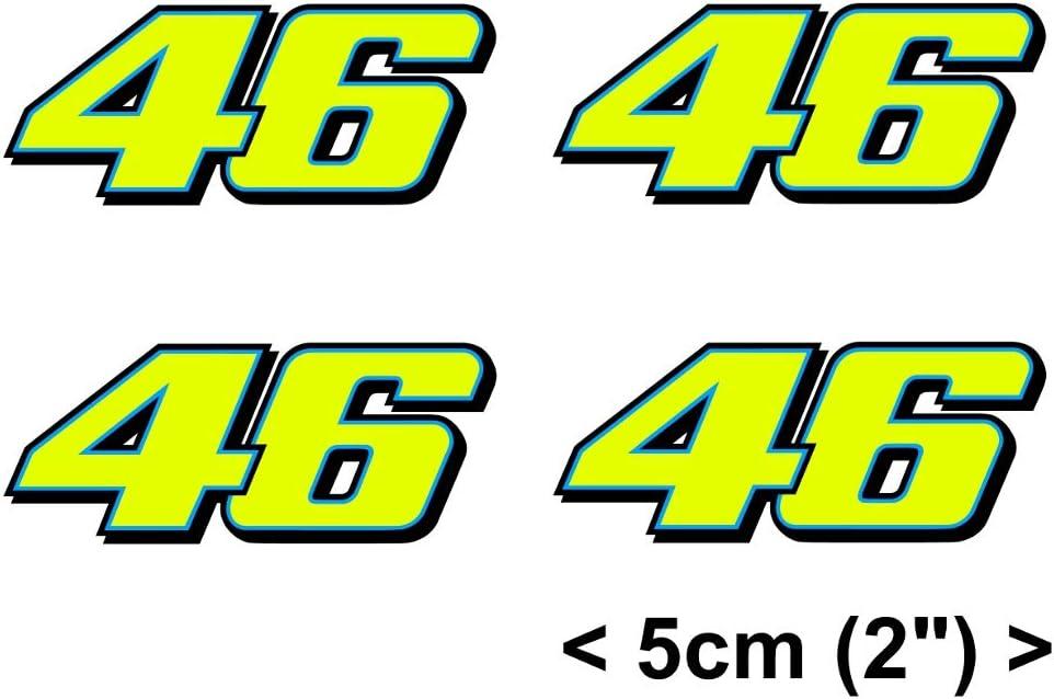 Valentino Rossi Aufkleber Gelb Fluoreszierend 46 Vinyl Abziehbild 2013 4 X 5cm Auto