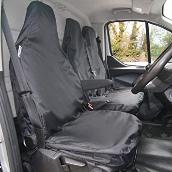 Single//Double Waterproof Seat Cover Co Tailored Waterproof Heavy Duty Seat Covers to fit the Ford Transit Custom