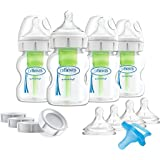 Dr. Brown's Breastfeeding Baby Bottles, Options+ Wide-Neck Breast to Bottle Feeding Set