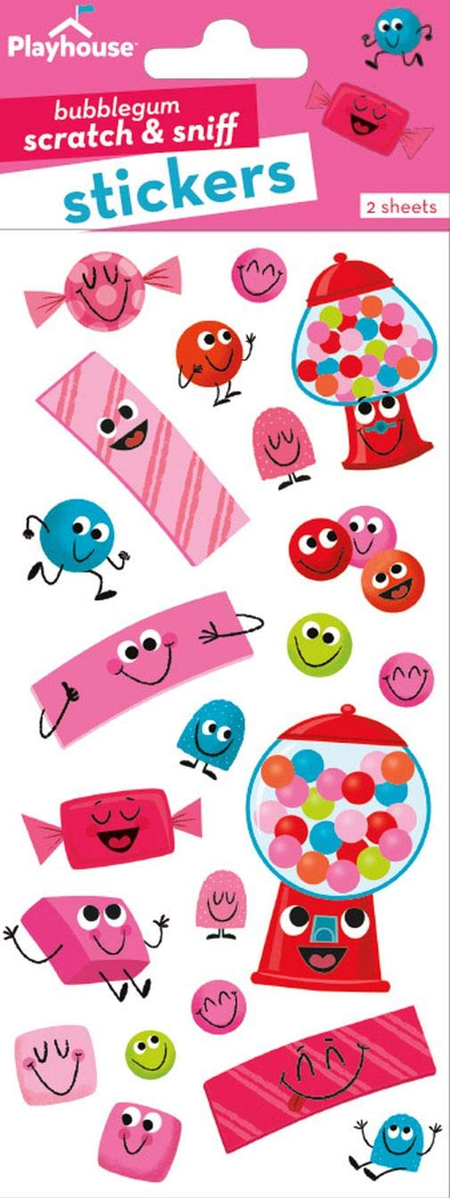 Playhouse Bubblegum Fun Bubblegum Scented Scratch /& Sniff Sticker Sheets