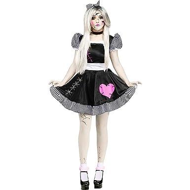Fun World Costumes Womenu0027s Broken Doll Adult Costume Black/White Small/Medium  sc 1 st  Amazon.com & Amazon.com: Fun World Costumes Womenu0027s Broken Doll Adult Costume ...