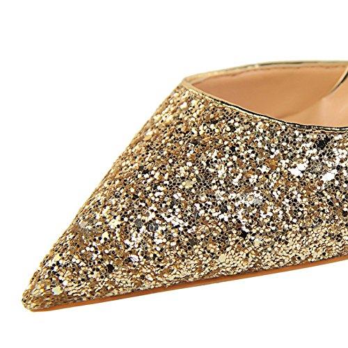 i e alti YMFIE scarpe partito poco autunno partito sottile scarpe Primavera sexy b appuntita luminoso e profonda scarpe con cavo tacchi gqf5Owq
