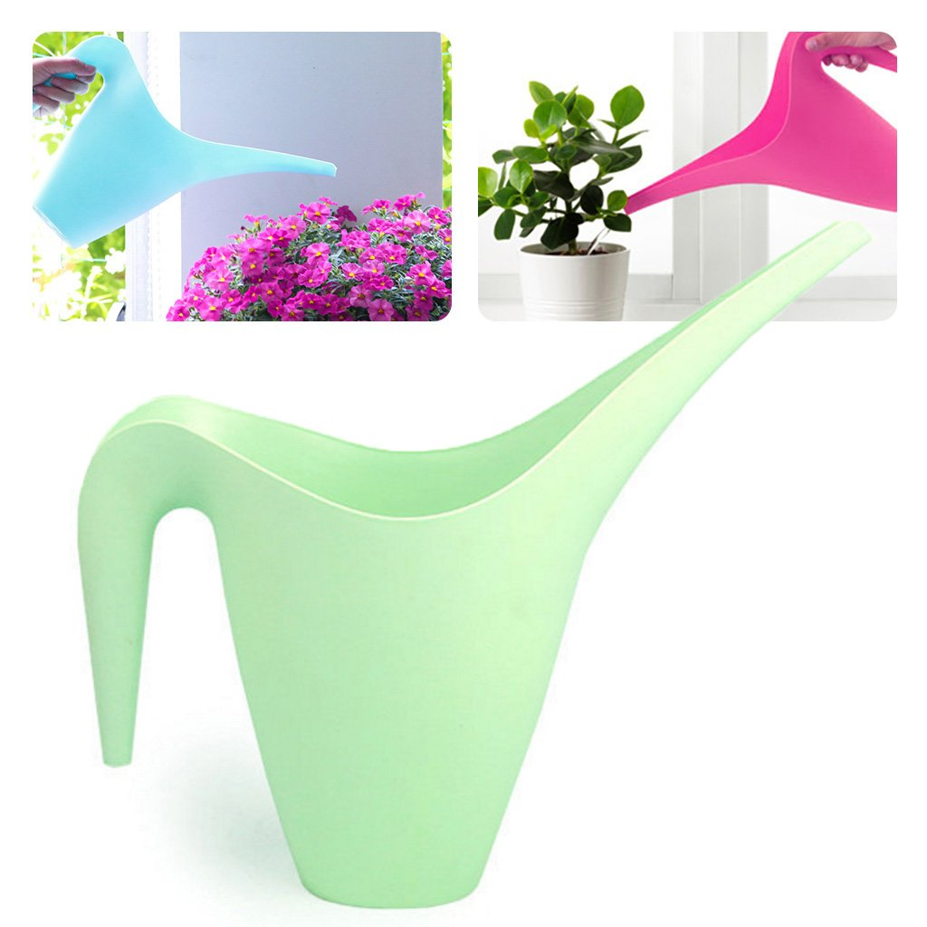 Jiamins Watering Cans for House Plants Long Spout Handy Garden Flower Watering Tools Plastic (1L, Blue)