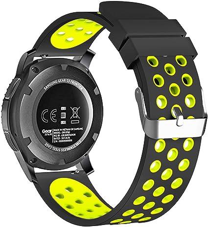 20mm Smart Watch Bands, FanTEK Silicone Sport Quick Release Watch Strap Wristband for Samsung Galaxy Watch 42mm / Galaxy Watch Active/Gear 2 ...